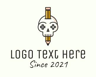 Console - Gaming Skull Console logo design