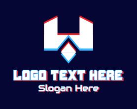 App - Futuristic Letter W Gamer logo design