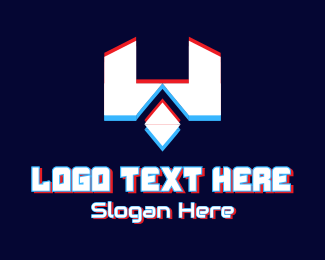 Monogram - Futuristic Letter W Gamer logo design