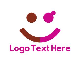 Cheerful - Happy Couple logo design