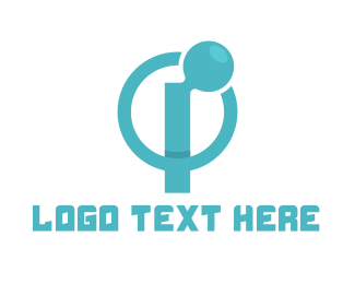 4g - Blue Circle I logo design