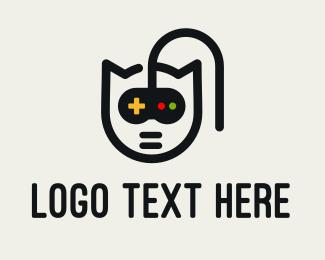 Gamepad - Cat Gamepad logo design