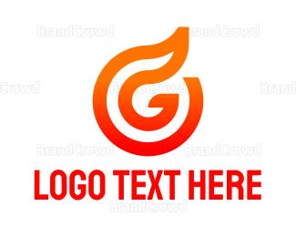 Petroleum - Abstract Flame Outline logo design