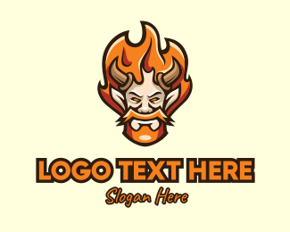 Mythical - Blazing Horn Mascot logo design