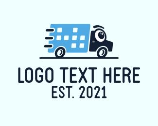 Distribution - Delivery Truck Courier logo design