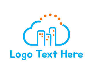 Green Cloud - Cloud City logo design