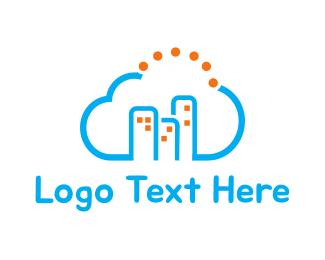 Hosting - Cloud City logo design