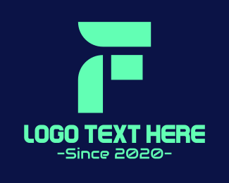 Future - Futuristic Leaf Letter F logo design