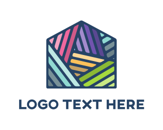 Detail - Colorful Mosaic House logo design