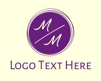 Wedding Planner - Minimal Wedding Letter M logo design