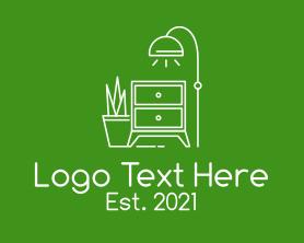 Interior - Minimalist Interior Furniture logo design