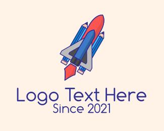 Designs - Pencil Rocket Ship logo design