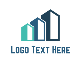 Construction - Three Buildings logo design