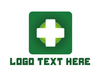 Pharmaceutics - Medical Green Cross App logo design