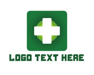 Drug Store - Gren Cross logo design