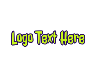 Gooey - Zombie Text logo design