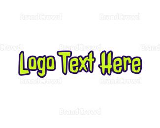 Comic Book - Zombie Text logo design