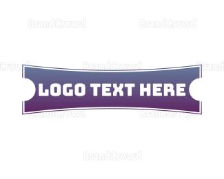 Cowboy - Gradient Western Banner logo design