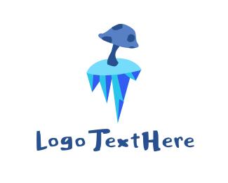 Frozen - Frozen Mushroom logo design