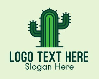 Cactus - Thorny Cactus logo design