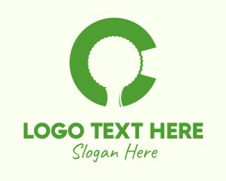 Letter C - Tree Letter C logo design