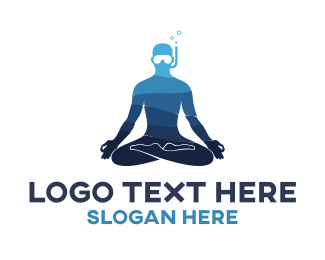 Diver - Scuba Diving & Meditation logo design