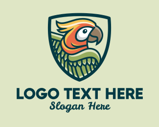 Parakeet - Parrot Bird Emblem  logo design