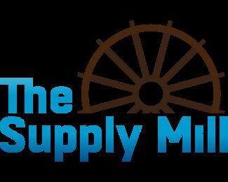 Windmill - Wood Wheel logo design