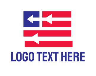 Election - Patriotic Arrow Flag logo design