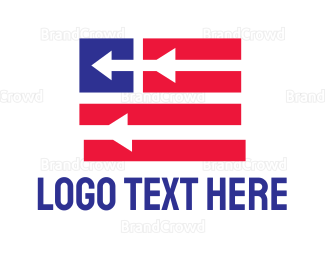 Political - Patriotic Arrow Flag logo design