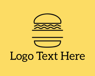 Burger Bar - Minimalist Burger logo design