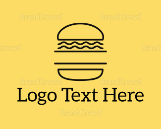Food Truck - Minimalist Burger logo design