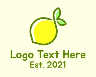 Food - Fresh Lemon Citrus logo design