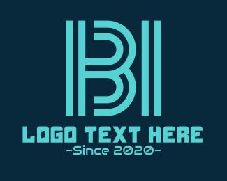 """Futuristic B & I Monogram"" by RistaDesign"