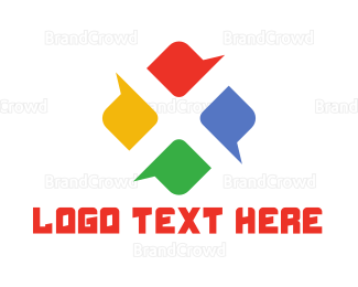 Social - Colorful Chat Window logo design
