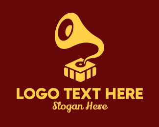 Old School - Modern Phonograph  logo design