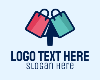Shop - Online Shopping Bags  logo design