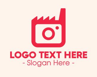 Camera App - Pink Camera Factory logo design