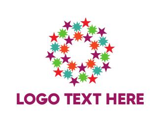 Purple Circle - Colorful Constellation logo design