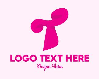 Fashion - Pink Fashion Letter T logo design