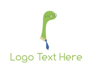 Dinosaur - Nerd Monster logo design