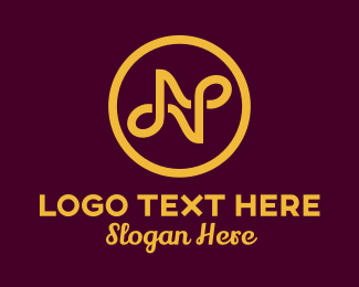 Highend - Gold Abstract Letter N logo design