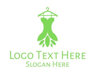 Closet - Green Fairy Costume Hanger logo design