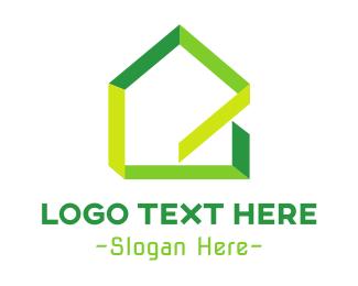 Eco Energy - Green Ribbon House logo design