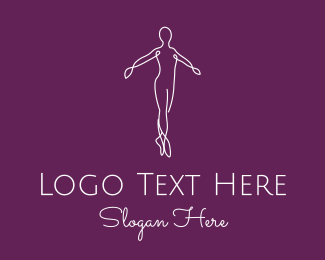 Gymnast - Ballet Dance Instructor logo design