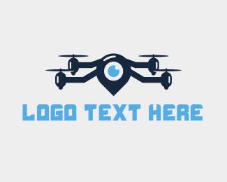 Location - Blue Locator Drone logo design