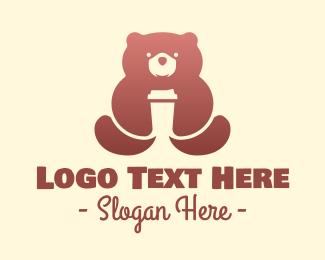 Grizzly - Brown Bear Coffee logo design
