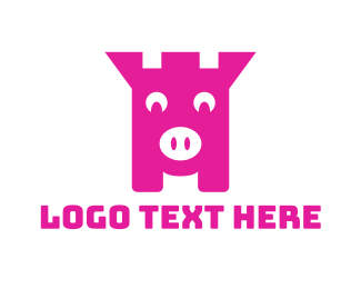 Save - Piggy Bank logo design