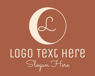 Crescent - Hipster Crescent Moon Lettermark  logo design