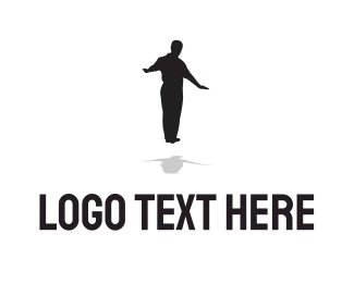 Praise - Black Levitating Man logo design